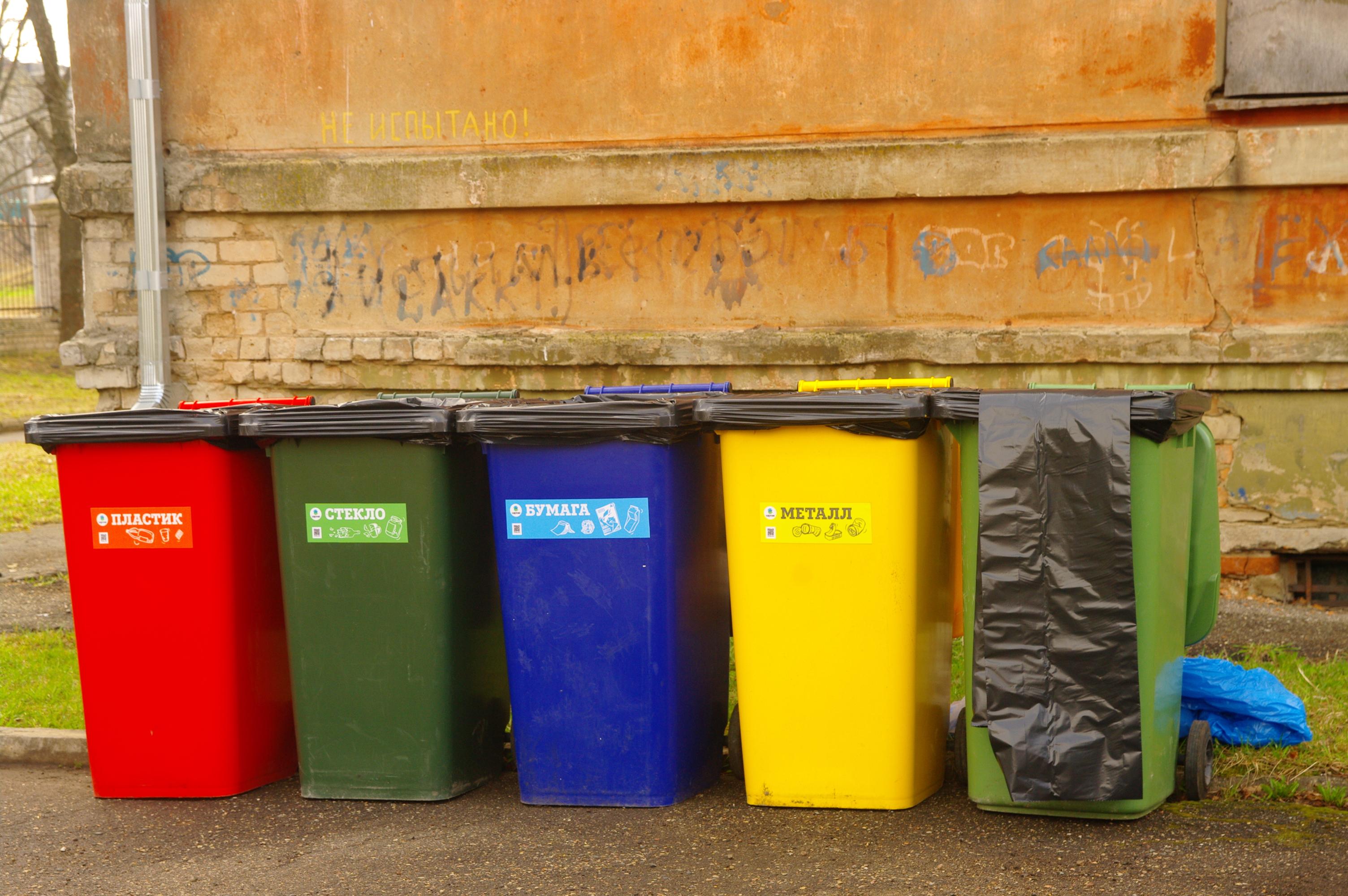 Контейнеры для раздельного сбора отходов картинки